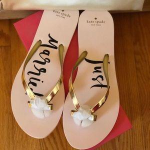 NIB Kate Spade Just Married Sandals